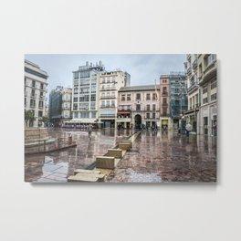 Malaga in rainy day Metal Print