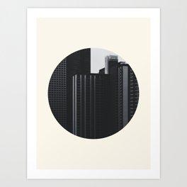 Black and White Buildings Art Print