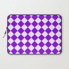 Diamonds - White and Violet Laptop Sleeve