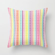 Textured Stripes Throw Pillow