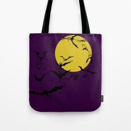 Bat Spiral Tote Bag