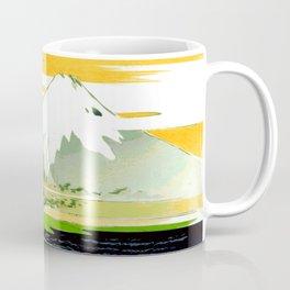 Vintage Mount Fuji Japanese Woodcut Print Coffee Mug