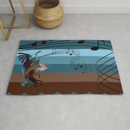 Southwest Kokopelli Music Rug