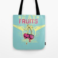fruits Tote Bags featuring Fruits by Tshirt-Factory