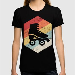 Retro 70s Roller Skating Icon T-shirt