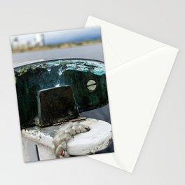 ship railings in Leith Stationery Cards