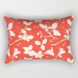 Drawings from Stonecrop Garden, Pattern in Red Rectangular Pillow