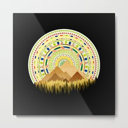 Disc Nature Metal Print