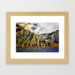 Searust Na Pali, Kauai Framed Art Print