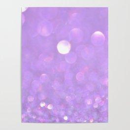 Purple Glitter Poster