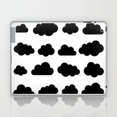 Black clouds - Black and white art Laptop & iPad Skin
