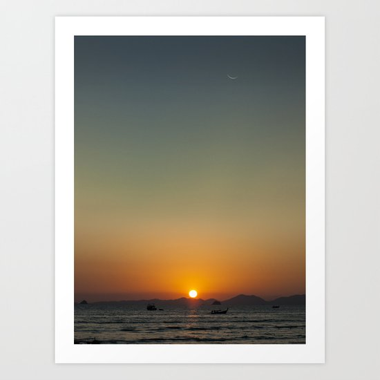 Sunset over the Andaman Sea Art Print