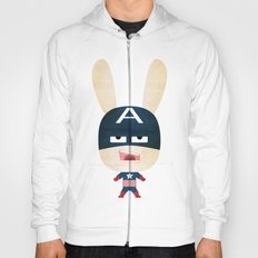 We are all rabbits \ Captain America  Hoody