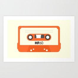 Orange Cassette #1 Art Print