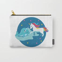 Narwhal Unicorn Beluga Sea Life Friendship Gift Carry-All Pouch