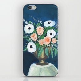 blush and white bouquet iPhone Skin
