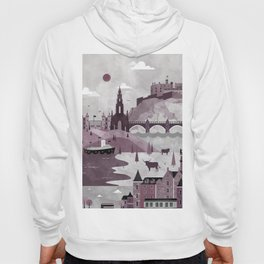 Edinburgh Travel Poster Illustration Hoody