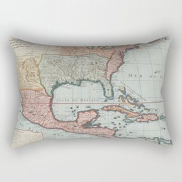 Vintage Map of The Gulf of Mexico (1732) Rectangular Pillow
