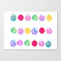 lanterns Canvas Prints featuring Lanterns by Kara Hayley