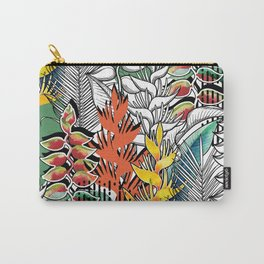 Combined heliconia pattern Carry-All Pouch