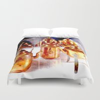 copper Duvet Covers featuring Copper utensils by LoRo  Art & Pictures