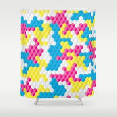 CUBOUFLAGE CANDY Shower Curtain