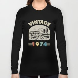 Birthday Gift Vintage 1974 Classic Long Sleeve T-shirt
