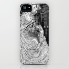 The Leics Seemstress Black And White iPhone Case