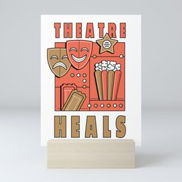 Theater heal spell Mini Art Print
