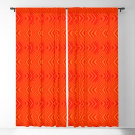 Pattern of intersecting hearts and stripes on a red background. Blackout Curtain