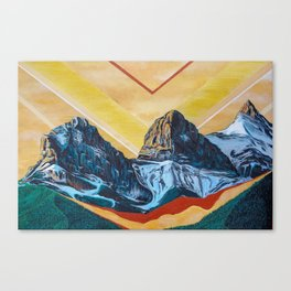 Three Sister Mountains Canvas Print
