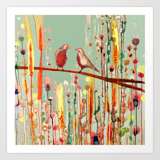 In Your Eyes Colorful Birds Canvas Wall Art