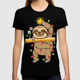 Sloth Xmas tree T-shirt