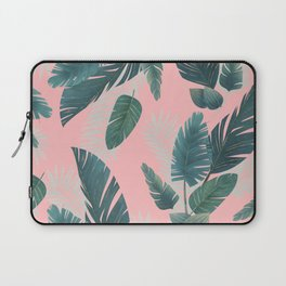 Tropical Leaf Pattern Laptop Sleeve