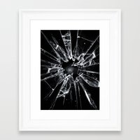 broken Framed Art Prints featuring Broken by nicebleed