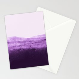 Amethyst Watercolor Crush Stationery Cards