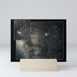 Hubble Space Telescope - Constellation Scorpius with Digitized Sky Survey insert (2002) Mini Art Print