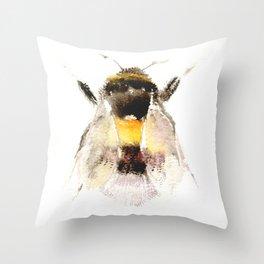 Bumblebee, fuzzy bee Throw Pillow