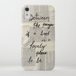 Between Pages iPhone Case