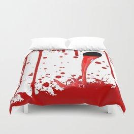 BLEEDING RED ART Duvet Cover