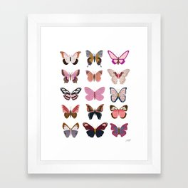 Pink Butterflies Framed Art Print