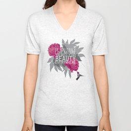 Finding Beauty Unisex V-Neck