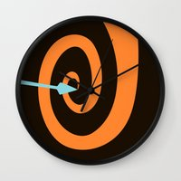 brave Wall Clocks featuring Brave by Citron Vert