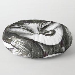 Dark Wave Swells Floor Pillow