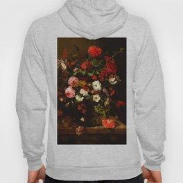 "Abraham van Beyeren ""Flower Still Life with a Timepiece"" Hoody"