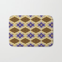 Blue and Brown by Melissa Brown Bath Mat