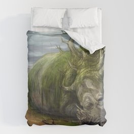 Fantasy Animal Fantasy Animals Desert Child Rhino Comforters