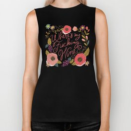 Pretty Swe*ry: Where's My F-ing Wine? Biker Tank