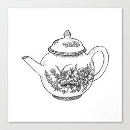 Tea Pot | Drawing Canvas Print