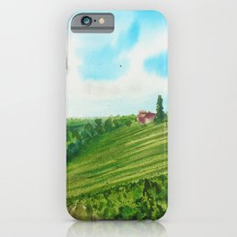 Tuscany Vineyard iPhone Case